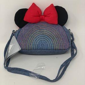 HP 🎉Disney Minnie Mouse Blue Denim Saddle Bag